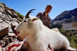 Austin from TX killed this great G13 Billy Goat at 12,000'
